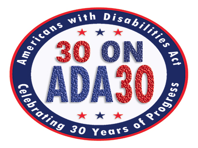 30onADA30 logo. Americans with Disabilities Act. Celebrating 30 Years of Progress