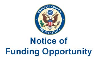NCD logo with Notice of Funding Opportunity