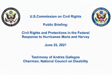 Title Slide for USCCR briefing